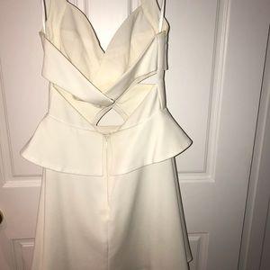 Short open white dress